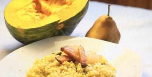 risotto con zucca e pere